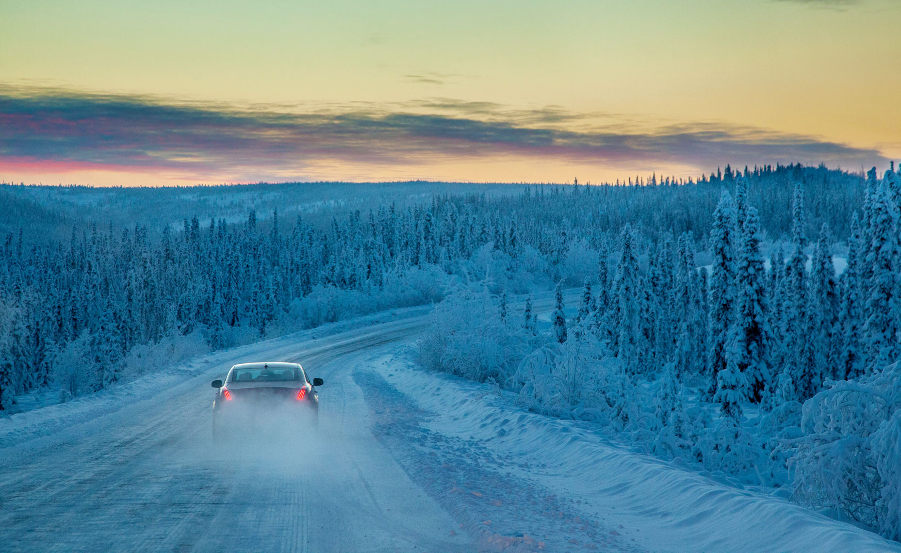 Jaguar XJ in the Arctic